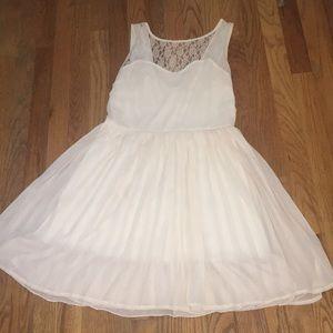 Cream Sleeveless Dress